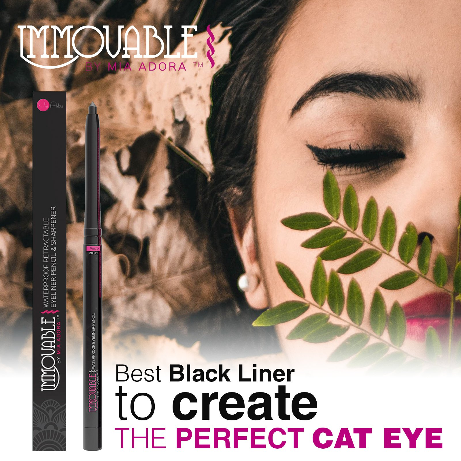 Best Black Waterproof Eyeliner Pencil with Sharpener - 12 Hour Wear - Easy to Use & Perfect Eye Liner for Your Cat Eyes & Waterline - Immovable by Mia Adora Makeup by MIA ADORA (Image #5)