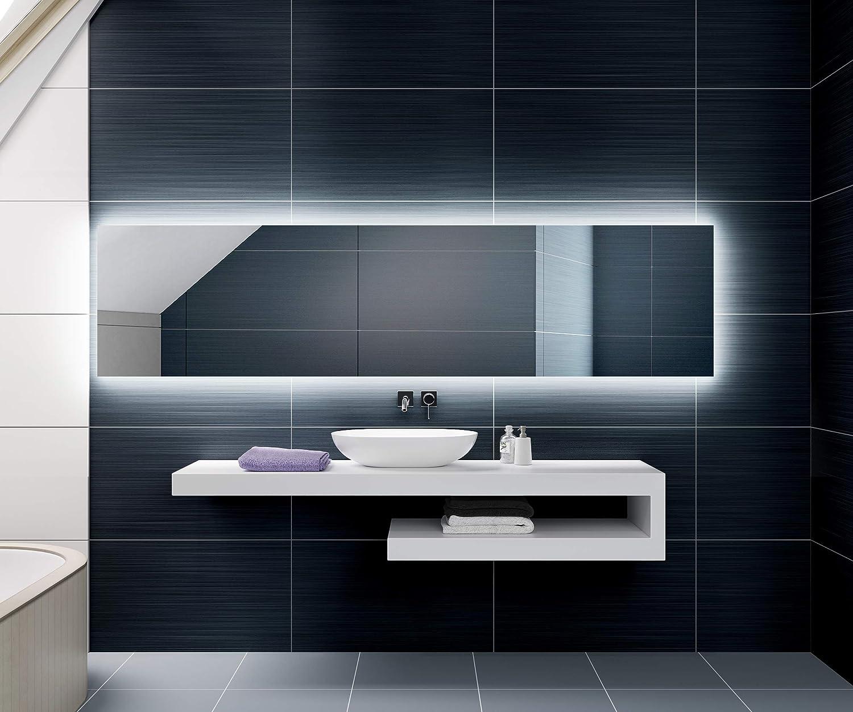 fabricado a medida con marco luminoso LED Espejo de ba/ño moderno e iluminado