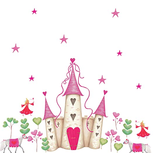 RoomMates Repositionable Childrens Wall Stickers Princess Castle Part 42
