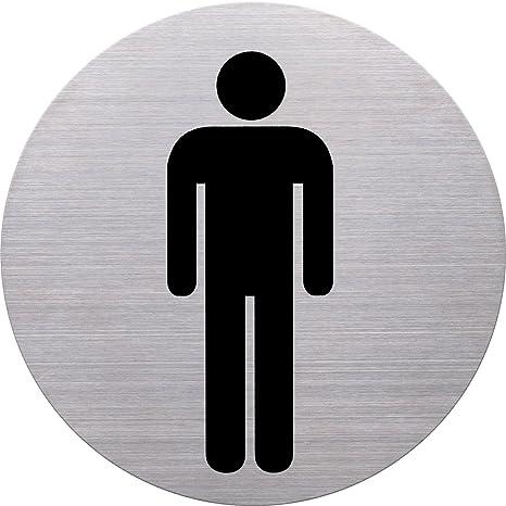 Helit H6270900 - Cartello per bagno uomini, diametro 115 mm ...