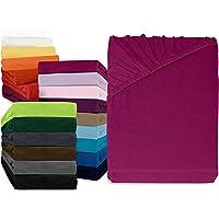 npluseins klassisches Jersey Spannbetttuch - erhältlich in 34 modernen Farben und 6 verschiedenen Größen - 100% Baumwolle