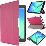 iHarbort® Samsung Galaxy Tab A 9.7 custodia in pelle, premio multi-angoli protettivo di peso leggero Case Cover custodia in pelle per Samsung Galaxy Tab A 9.7 SM-T550 SM-T555 Holder, con sonno auto / sveglia la funzione (Galaxy Tab A 9.7, rosa caldo)