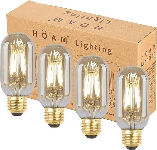 Amazon.com: Paquete de 4 bombillas Edison, iluminación de ...