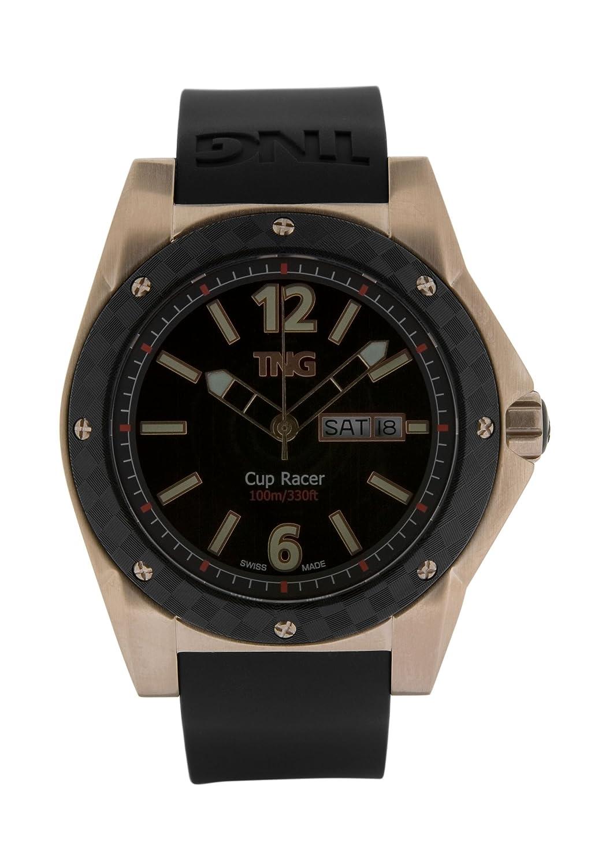TNG Herren-Armbanduhr Analog Plastik Schwarz TG667.30571.06PV