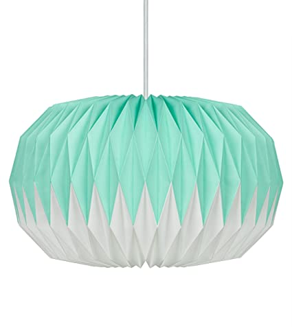 Wild Wood Paper Lampshade Mint Green Amazoncouk Lighting