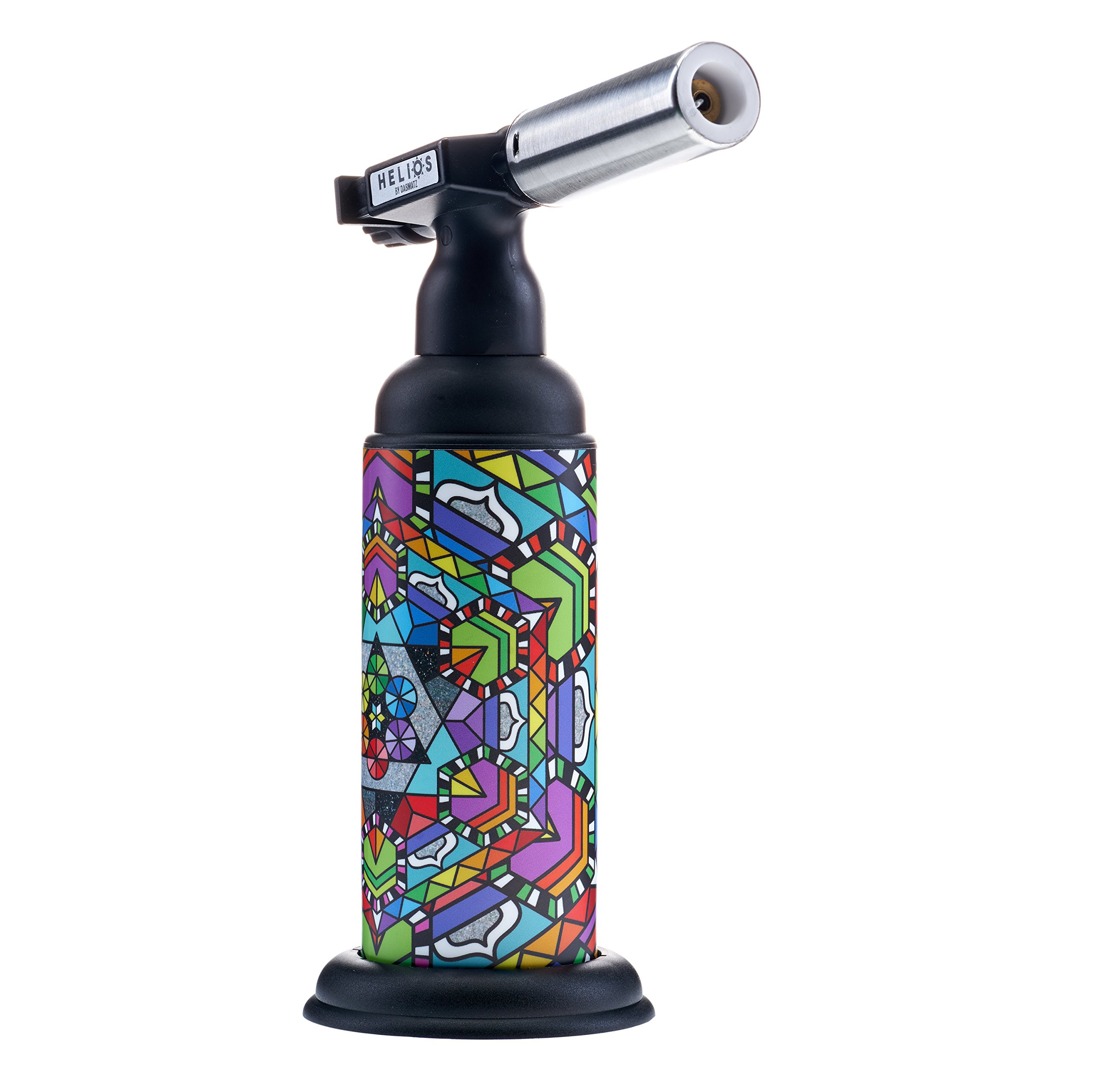 High Powered Helios Butane Torch by Dabmatz | Refillable Powerful Blow Torch With Adjustable Flame | For Dabbing, Desserts, Crème Brûlée, Soldering, Welding & More. (Design 2)
