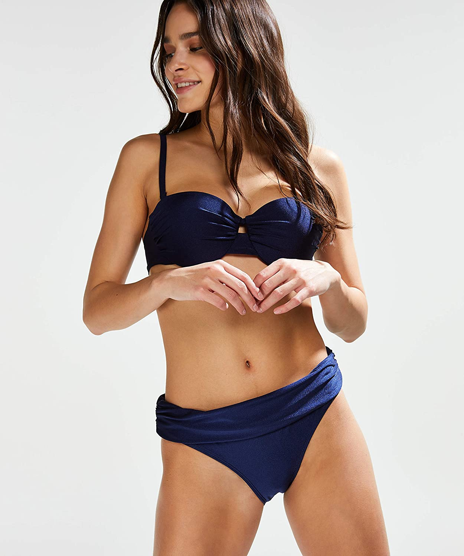 HUNKEM/ÖLLER Damen Vorgeformtes E tr/ägerloses Push-Up Bikini-Oberteil Rhapsody Cup A