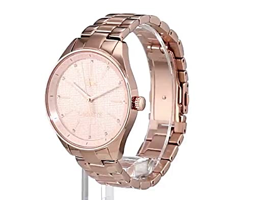Amazon.com: Lacoste Womens 2000899 Philadelphia Analog Display Japanese Quartz Rose Gold Watch: Watches
