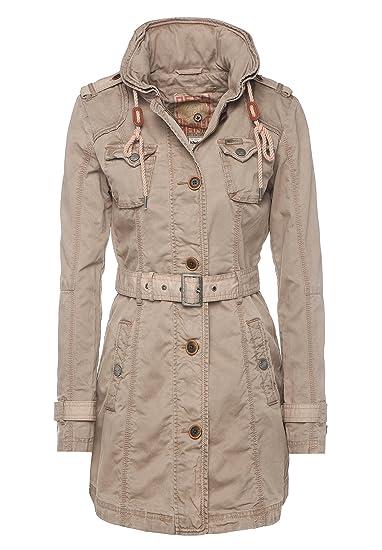 Damen Trenchcoat 60 COLLAR Style khujo STATEN schwarz zu SALE Details Mantel Innenkragen 8wNmn0
