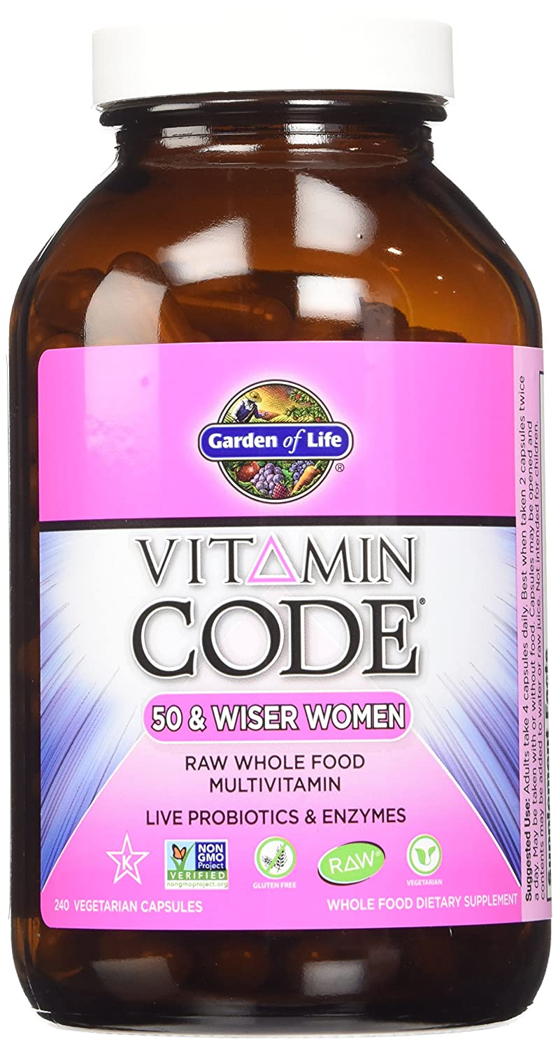 Garden of Life Vitamin Code Raw 50 and Wiser Women s Multivitamin 2 packs of 240 each