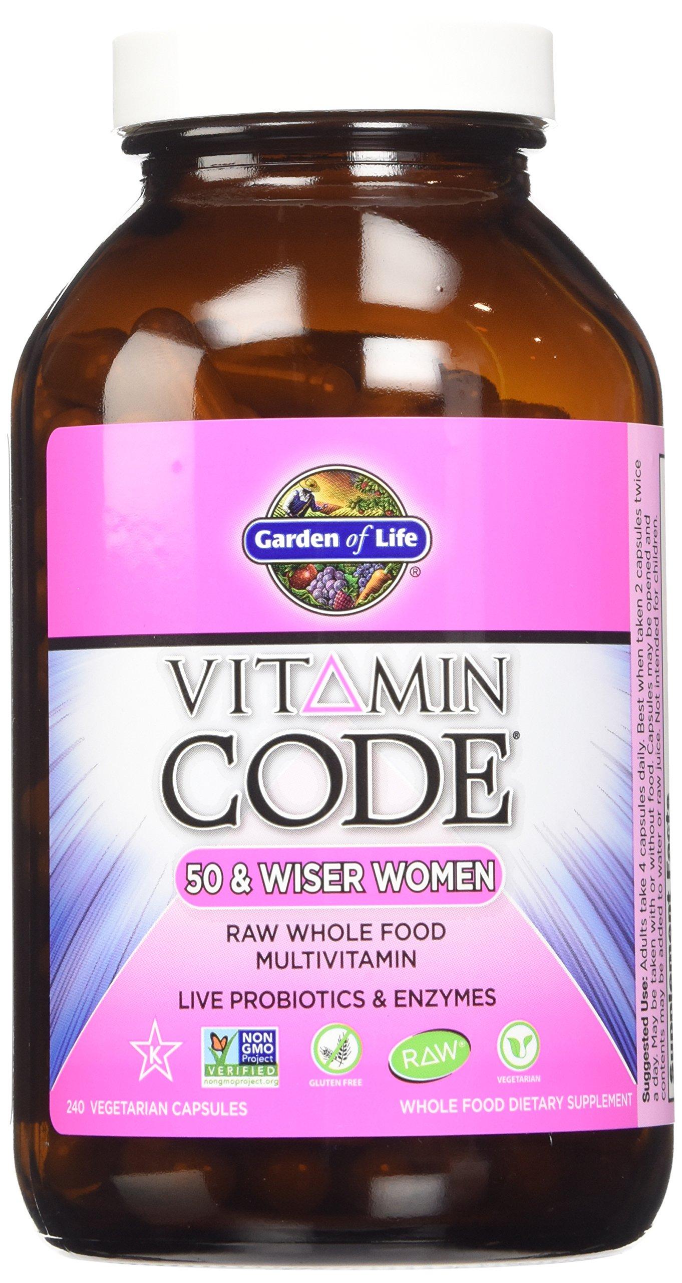 Garden of Life Vitamin Code Raw 50 and Wiser Women's Multivitamin[2 packs of 240 each]