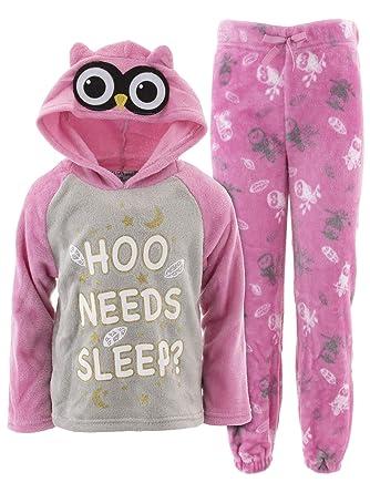 89173a5ab829 Amazon.com  dELiAs Big Girls  Unicorn Owl Novelty Hooded Pajamas  Clothing