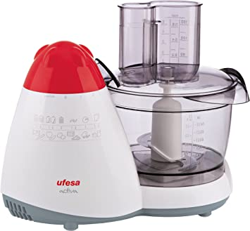 Ufesa PA-5000 Procesador de alimentos 450 W, Plástico|Acero Inoxidable, Blanco: Amazon.es: Hogar