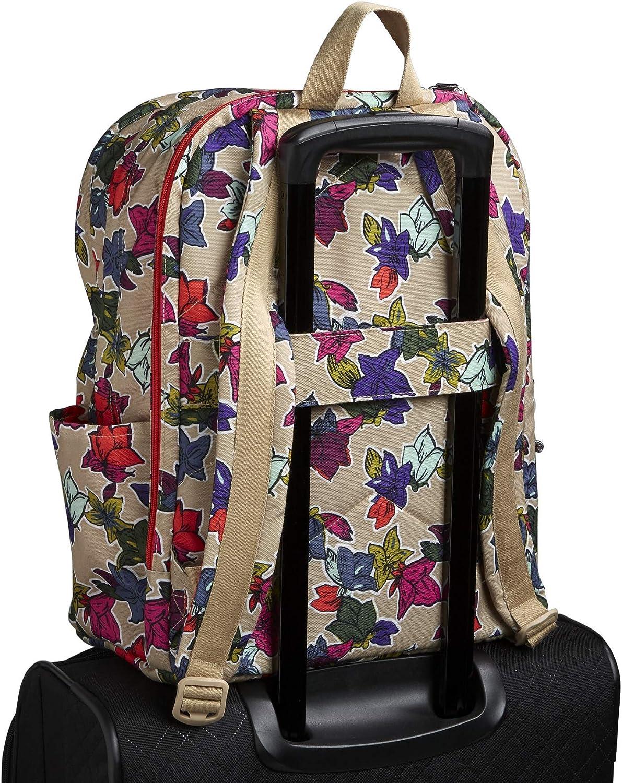Vera Bradley Lighten Up Grand Backpack, Polyester Fleurs Tombantes Neutres