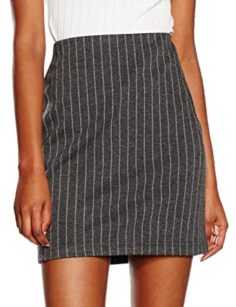 New Look Pinstripe Tube, Falda para Mujer, Grey (Mid Grey), ES 44 ...