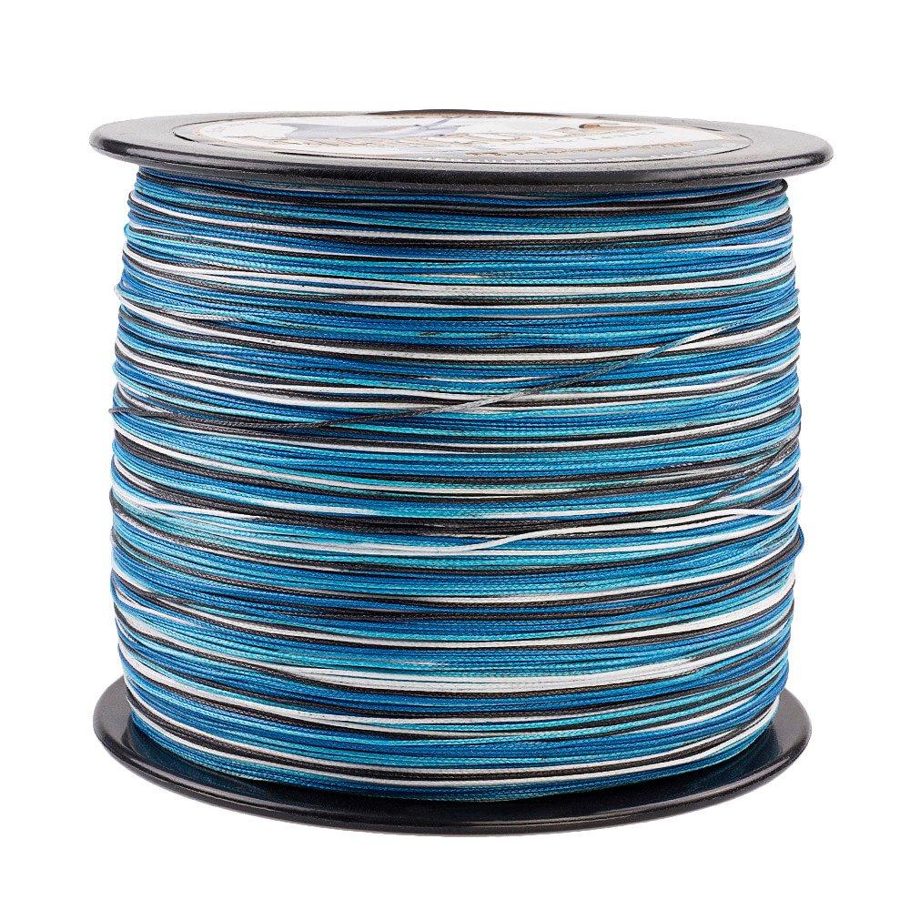 Hercules編組釣りライン2000 M 2187yds 10lbs-200lbs PE Dyneema Superline 8ストランド B0791DFHYN 50lb/22.7kg 0.37mm ブルーカモ(Blue Camo) ブルーカモ(Blue Camo) 50lb/22.7kg 0.37mm