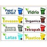 ATK 16 Etiquetas para la gestión de los residuos – Kit Bin – 120 x 45 mm
