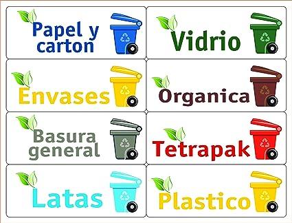 ATK 16 Etiquetas para la gestión de los residuos – Kit Bin – 120 x 45