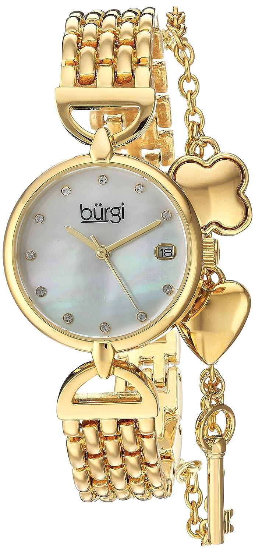 Burgi Women 's QuartzステンレススチールCasual Watch , Color : gold-toned (モデル: bur172yg ) B01MQ20566