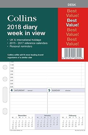 Collins DK1100-18 - Recambio para agenda diaria (año 2018 ...