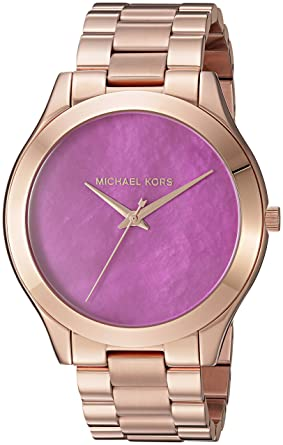 49e1dfe4f7af Michael Kors Women s Slim Runway Rose Gold-Tone Watch MK3550