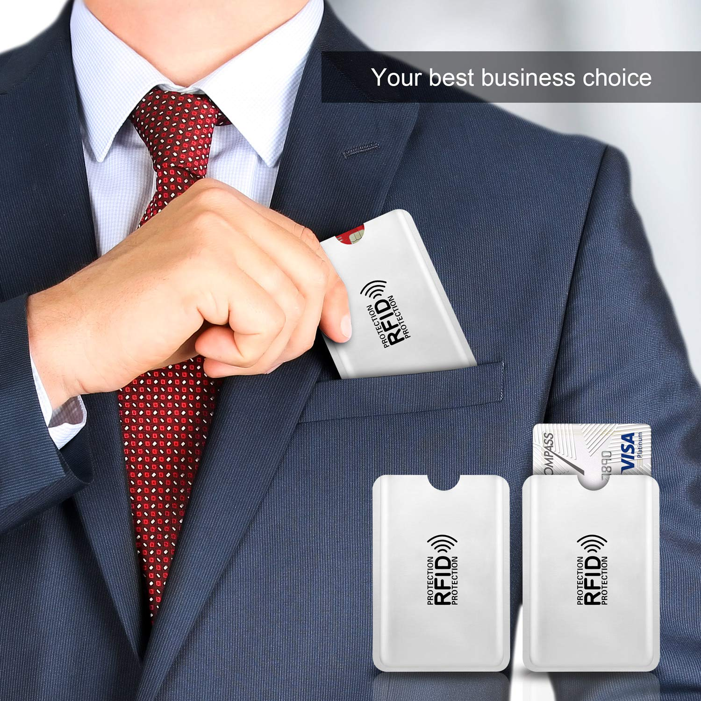 6 Protectores Tarjeta Credito Protecci/ón 100/% de NFC Bloqueo Blocker Card para Tarjeta de Cr/édito D/ébito y Tarjeta de Identificaci/ón Aluminio 6 Pack PAMIYO Protector de Tarjetas de Credito RFDI