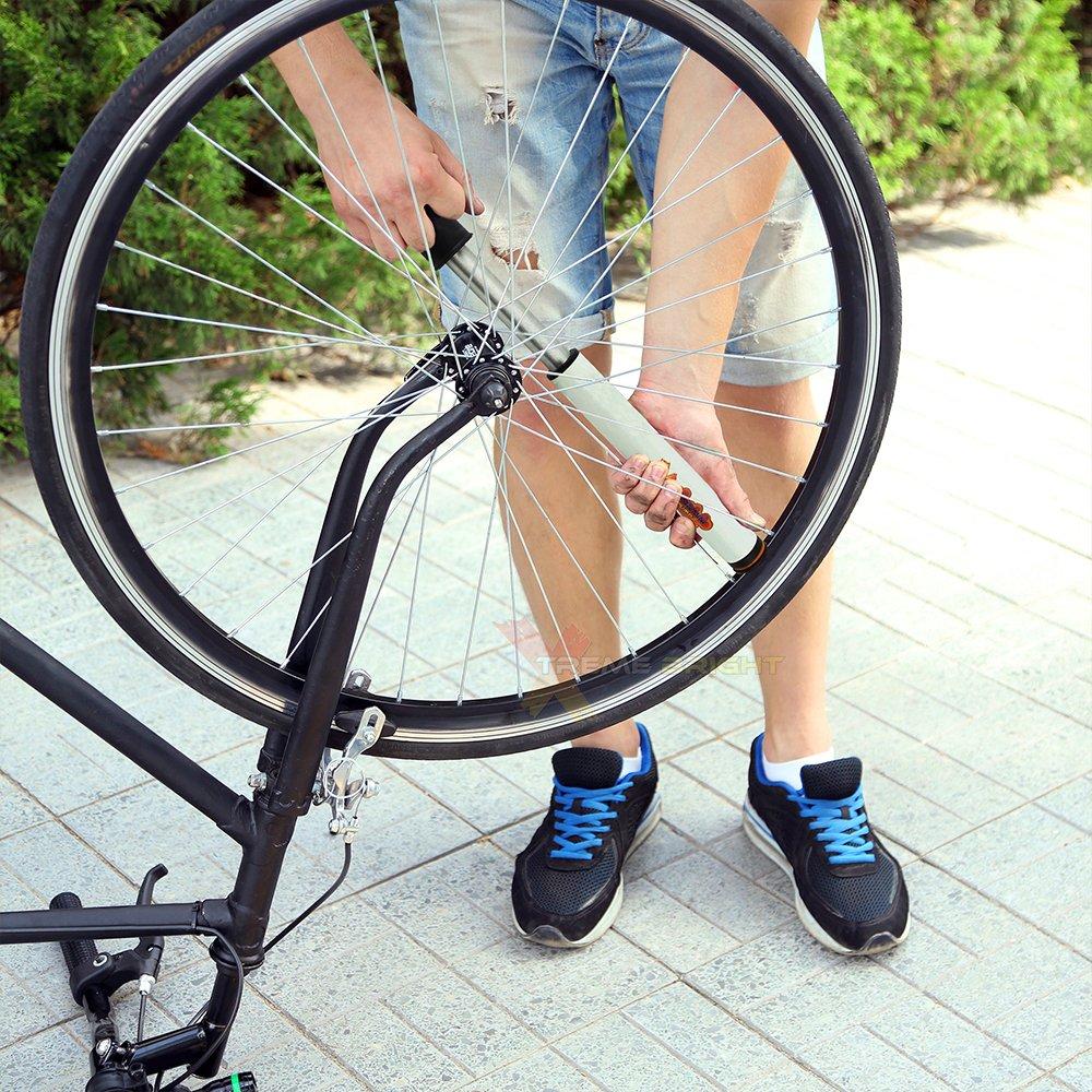 Xtreme Bright Air Mini Bike Pump Inflates to 120psi Van Bright HndBP Frame-Mounted Pump Accommodates Presta /& Schrader Tire Valves