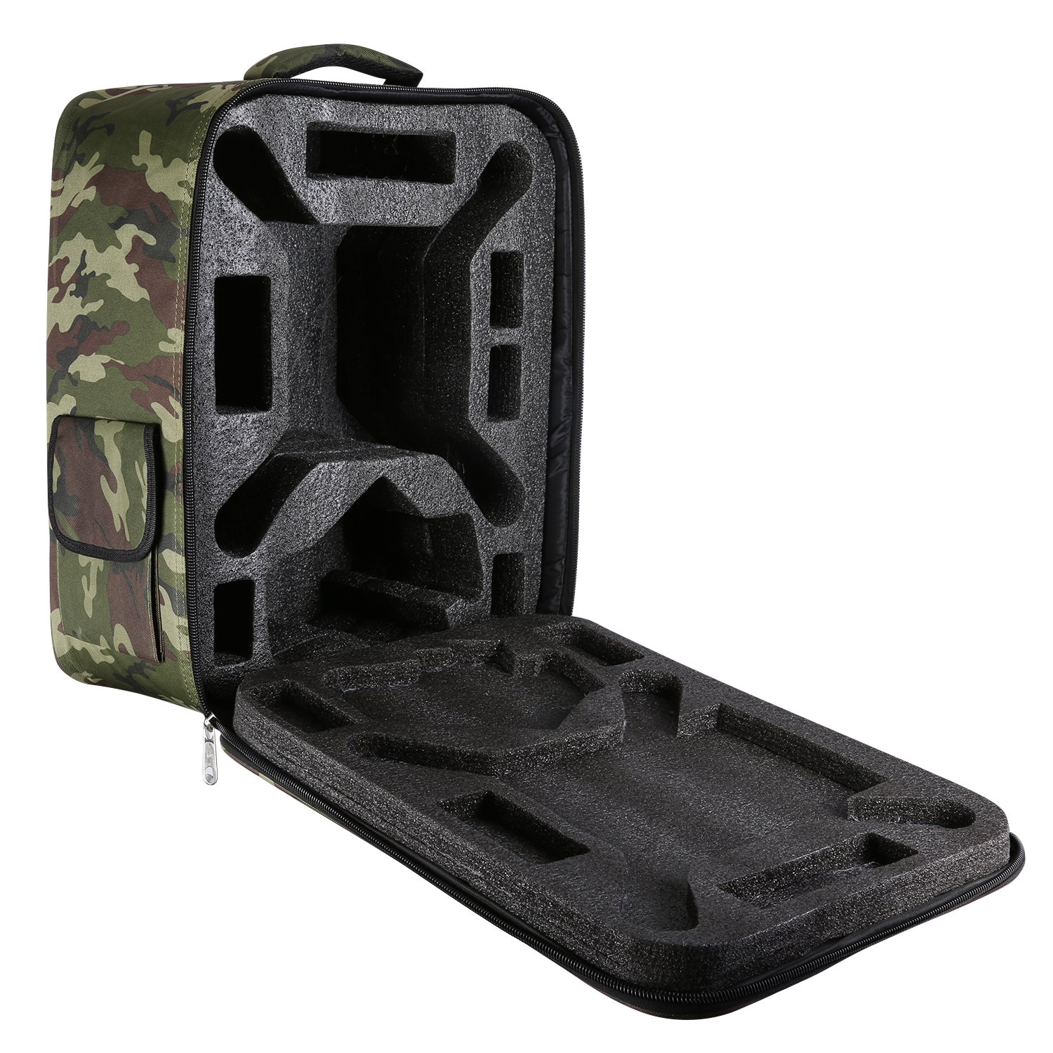 Neewer Multi-Function Waterproof Backpack Bag Case for DJI Phantom 1 FC40 2 2 Vision 2 Vision+ 3, DJI 3 Professional, Advanced, Standard, 4K Cameras and Accessories(Camouflage)