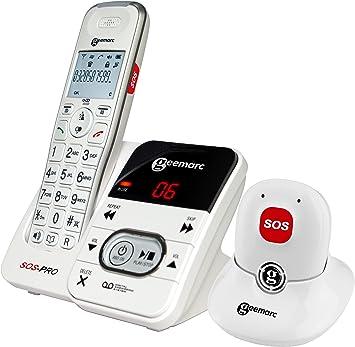 Geemarc DECT 295so Spro WH VDE ampli DECT – Teléfono inalámbrico (Teclas Grandes Teléfono con Manos Libres móvil, versión Alemana: Amazon.es: Electrónica