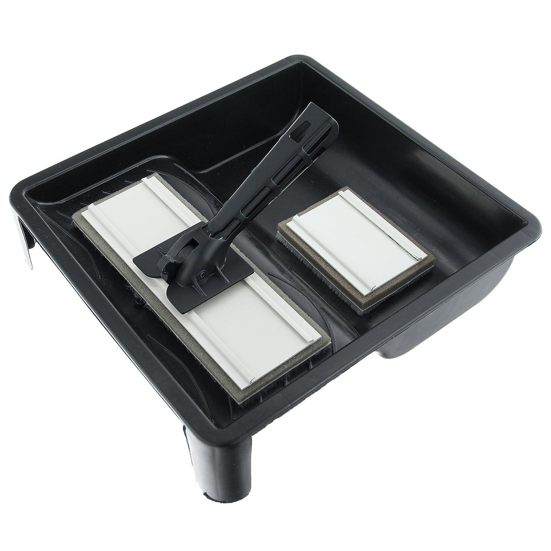 Kit de almohadillas de pintura con almohadilla grande y almohadilla pequeña Coral 24300 para emulsión y brillo; set de 4 piezas Coral Tools Ltd