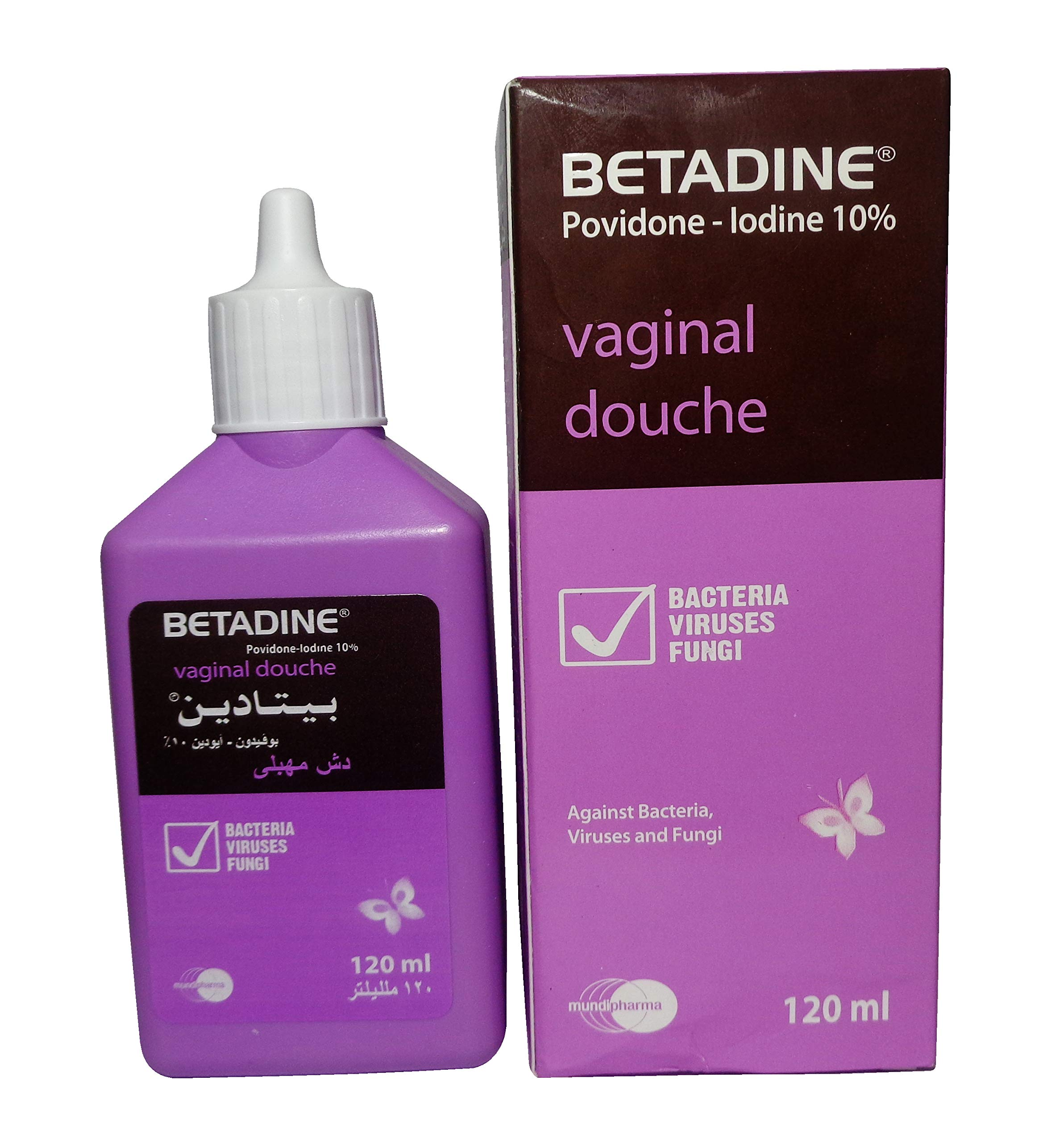 BETADINE Vaginal Douche Povidone-Iodine 10% for Women Intimate Care 120 ml (2 Packs / 240 ml) by Betadine