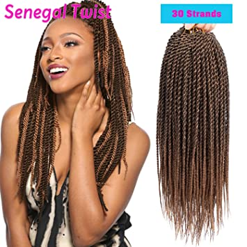Amazoncom 6packslot 14 Inch Senagalese Twist Crochet Hair Small