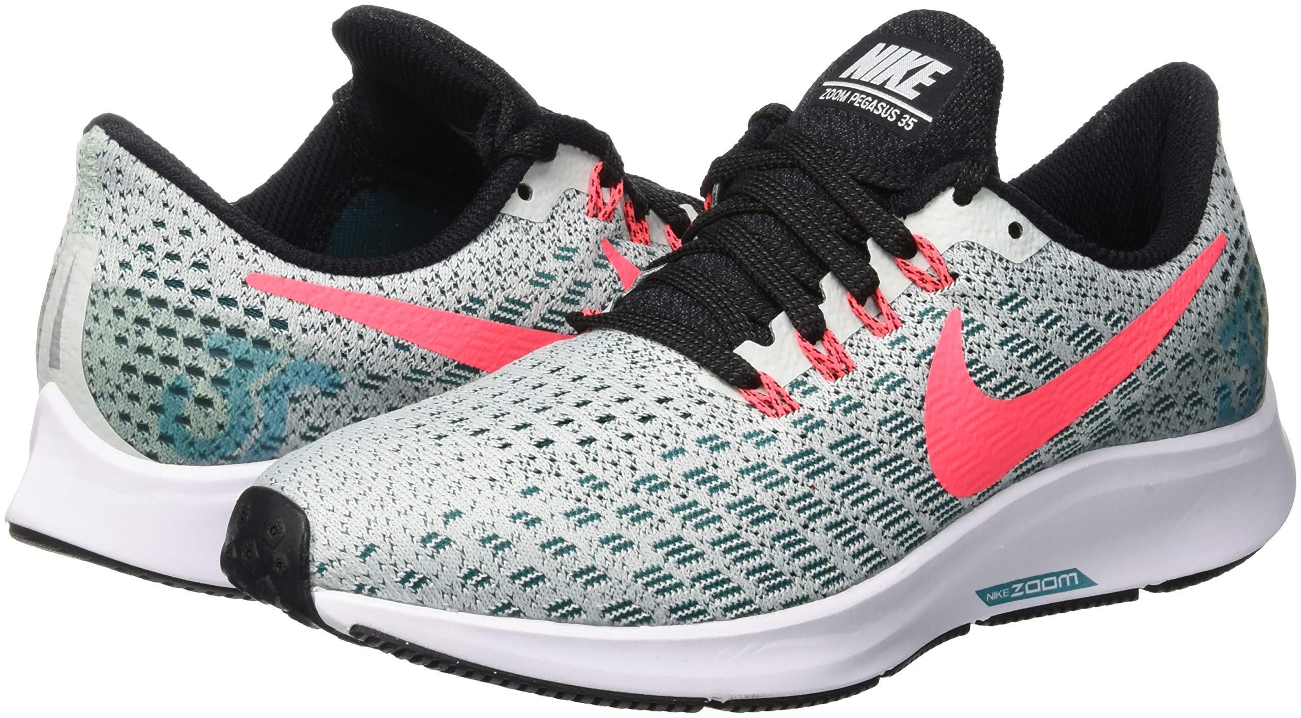Nike Air Zoom Pegasus 35, Women's Running, Multicolored (Barely Grey/Hot Punch/Geode Teal/Black 009), 4 UK (EU) by Nike (Image #8)
