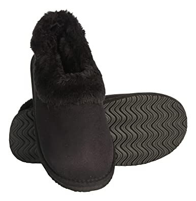 f896be01e10 Seranoma Women s Faux Fur Lining Indoor Outdoor Ankle Anti-Slip Boot Black