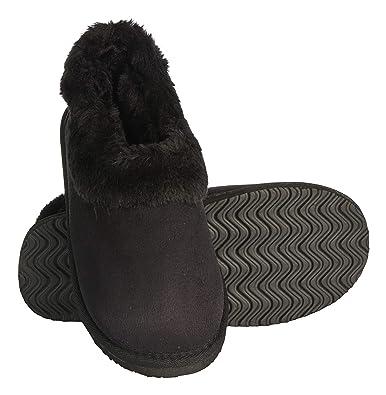 0f5704b9692 Seranoma Women s Faux Fur Lining Indoor Outdoor Ankle Anti-Slip Boot Black