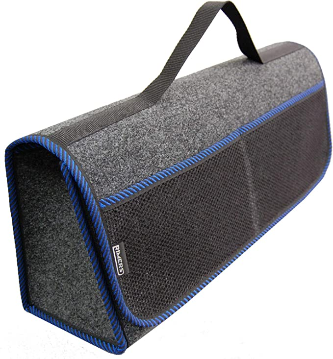 Rimers Kofferraumtasche Blau Auto Tasche Zubehörtasche Car Boot Organiser Toolbag 50x16x21cm Klettverschluss Auto