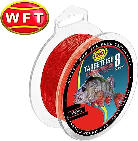 WFT TF8 perca Red 150 M – Perca Cordón para pesca, spinning Pescar ...