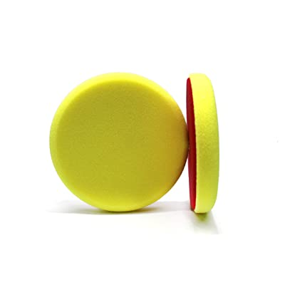 Maxshine Yellow Flat Foam Polishing Pad - 6 Inch/150mm: Automotive