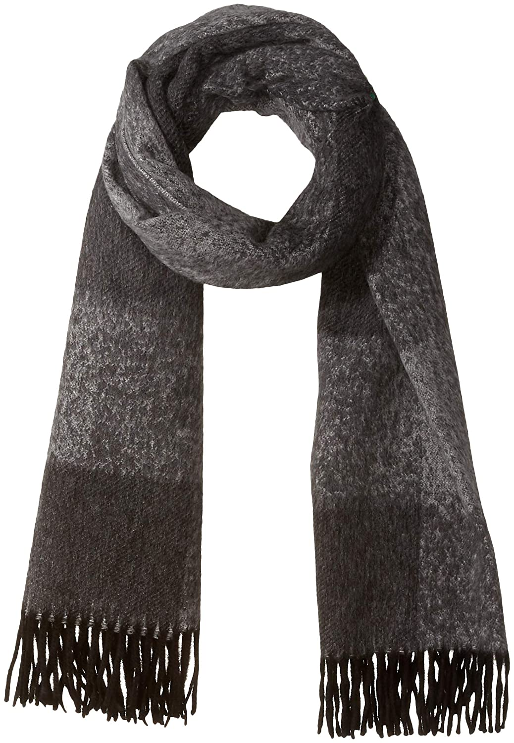 J.Lindeberg Men's Oversized Plaid Wool Scarf, Black One Size 86MC830089530