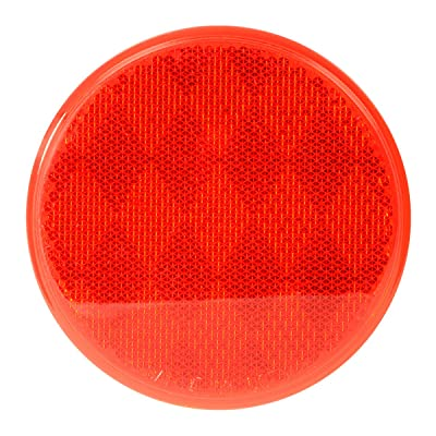 "Grand General 80814 Round Red 3"" Stick-On Reflector for Trucks, Towing, Trailers, RVs and Buses, 1 Pack: Automotive"