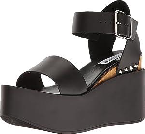Steve Madden Women's Rebecca Black Leather Sandal