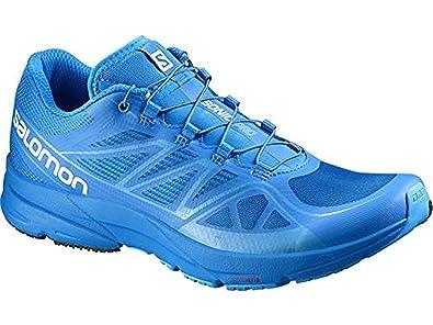 Salomon Men's Sonic Pro Shoes Union Blue / Blue 7.5 and Spare Quicklace  Bundle