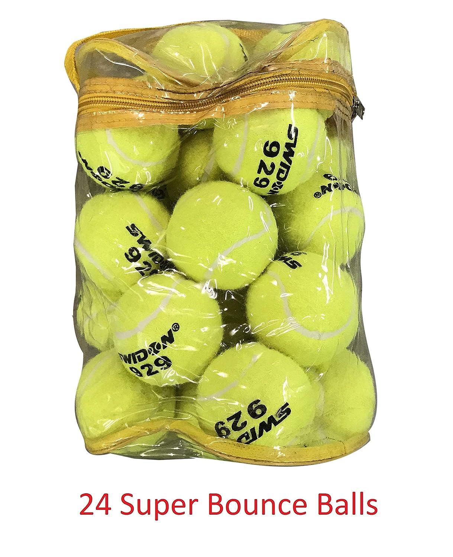 24 pelotas de tenis súper rebote bolas con bolsa (100% mejor ...