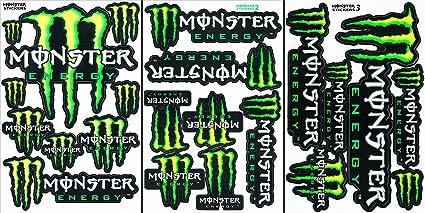 3 bebida energética Metal Mulisha Yamaha Kawasaki Motocross Race Racing F1 Logo del patrocinador adhesivo monopatín