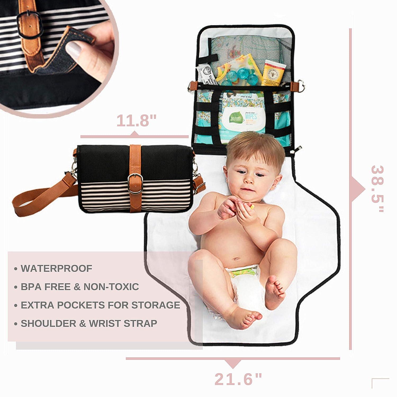 Geometric Diapers and Wipes Case Diaper Clutch with Changing Pad Diaper Clutch with Pockets Diaper Holder Diaper Clutch-The Mod