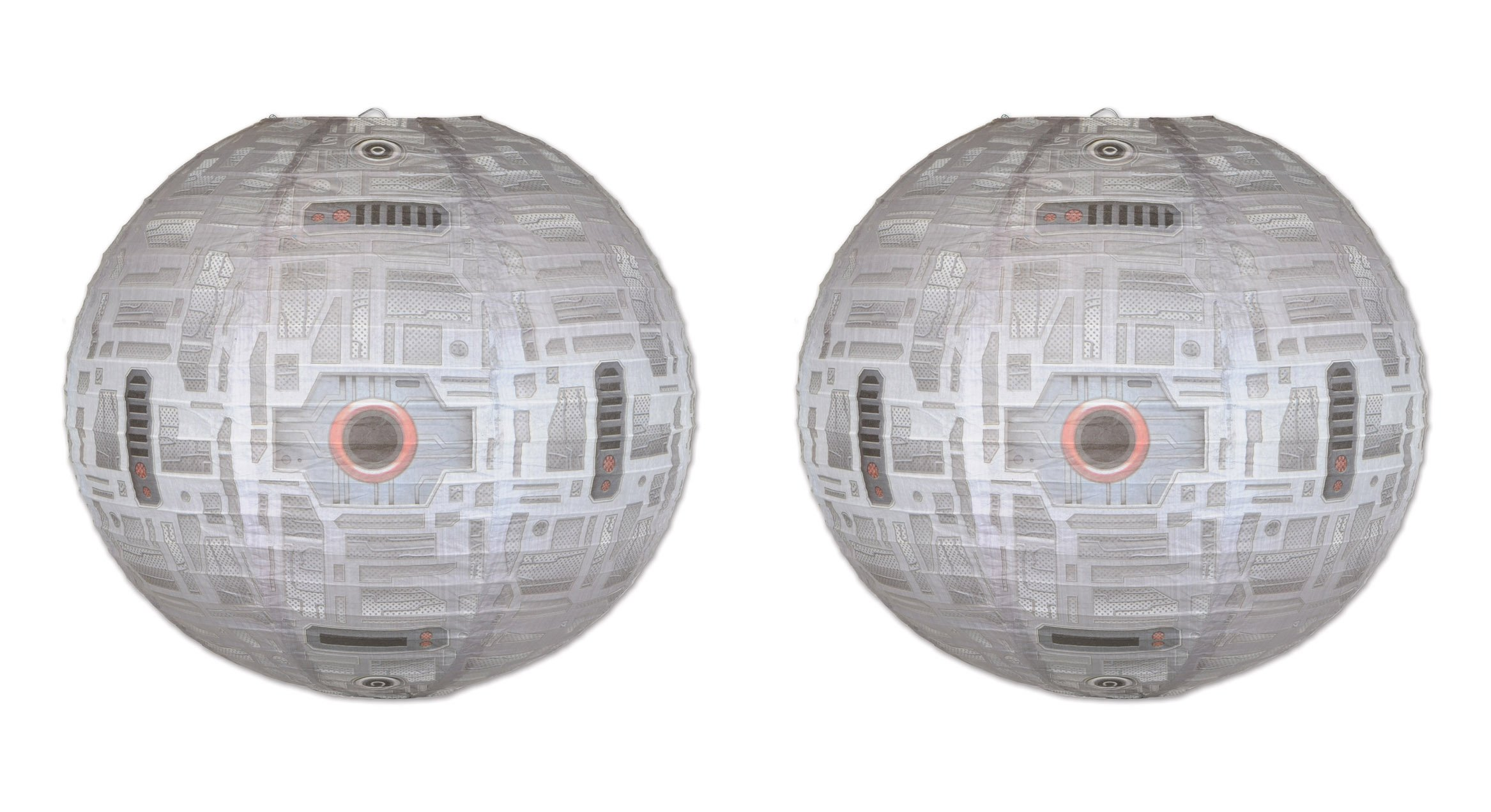 Beistle 59895 2Piece Space Station Paper Lanterns, 15.5'', Multicolored