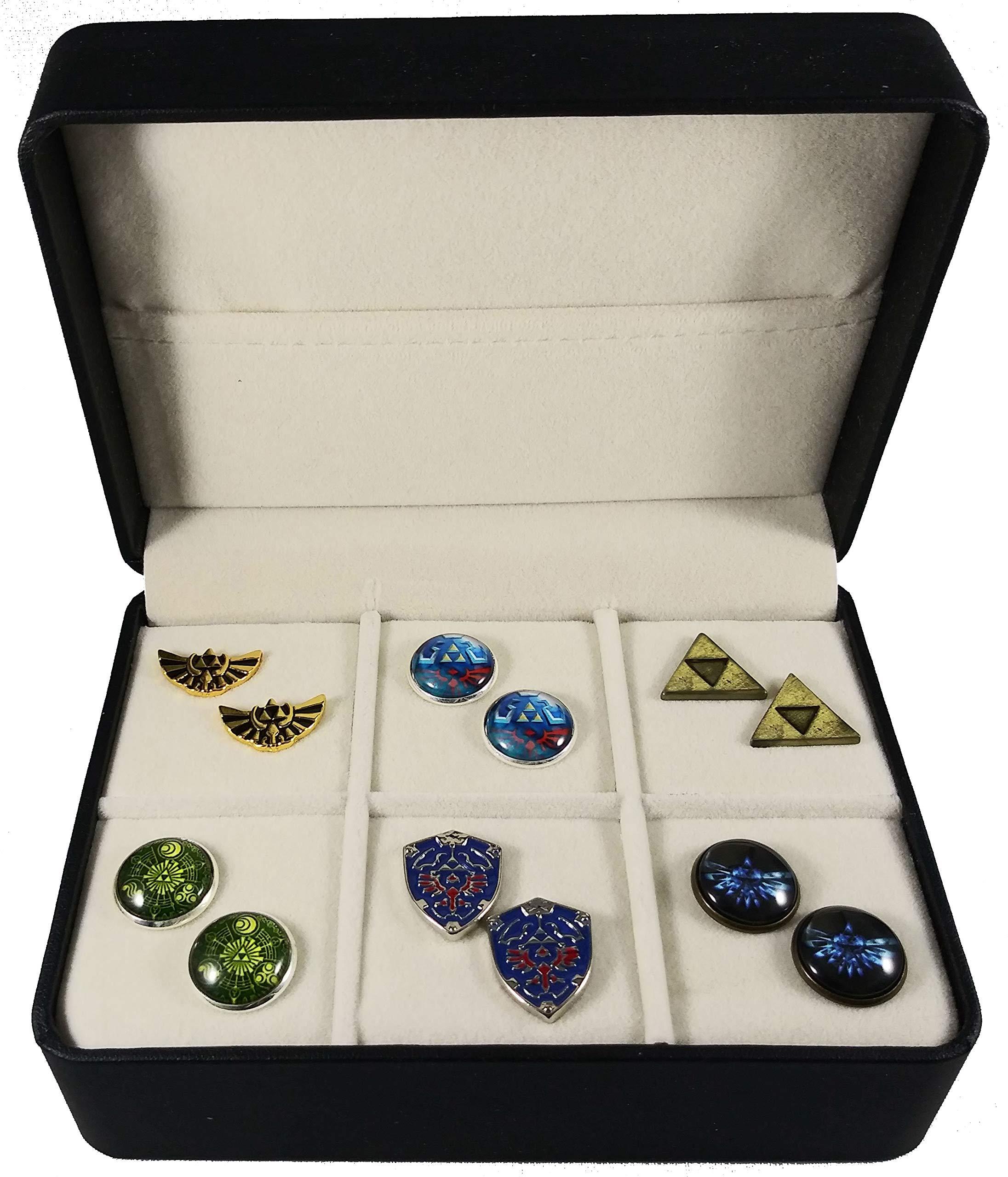 Geek & Glitter Legend of Zelda Cufflink Set - 6 Pairs with Gift Box - Breath of The Wild (Zelda Set)
