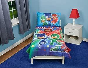 Fun House PJ Masks Catboy Owlete Gekko 4 pc Toddler Bed Set ...