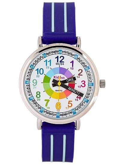 KIDDUS Reloj Niño con indicador de Hora en Italiano KI10311: Amazon.es: Relojes