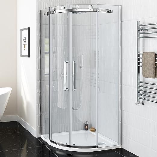 800 x 800 mm o cama de matrimonio sin Marco fácil de limpiar mampara de ducha cerrada + juego de plato: iBathUK: Amazon.es: Hogar